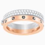 Hint Double Ring, White, Mixed plating - Swarovski, 5366572