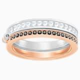 Hint Double Ring, White, Mixed plating - Swarovski, 5366582