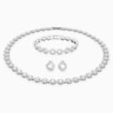 Conjunto de collares Angelic, blanco, Baño de Rodio - Swarovski, 5367853