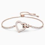 Bracelet Lovely, blanc, Métal doré rose - Swarovski, 5368541