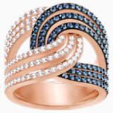 Lemon Knot Ring, Blue, Mixed metal finish - Swarovski, 5372617