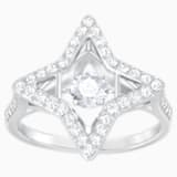 Sparkling Dance Star 戒指, 白色, 镀铑 - Swarovski, 5372931