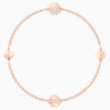Swarovski Remix Collection Round Strand, Белый Кристалл, Покрытие оттенка розового золота - Swarovski, 5373212