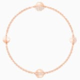 Swarovski Remix Collection Round Strand, White, Rose-gold tone plated - Swarovski, 5373212
