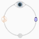 Swarovski Remix Collection Evil Eye Strand, viola, Mix di placcature - Swarovski, 5373230