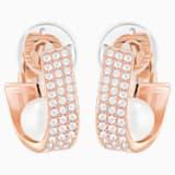 Holders Clip Earrings, White, Rose-gold tone plated - Swarovski, 5374864