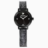 Cosmic Rock Watch, Metal bracelet, Black, Black PVD - Swarovski, 5376071