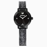 Cosmic Rock Watch, Metal bracelet, Black, Black PVD - Swarovski, 5376071