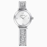 Cosmic Rock Watch, Metal bracelet, White, Stainless steel - Swarovski, 5376080