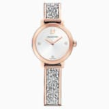 Cosmic Rock Часы, Металлический браслет, Серый Кристалл, PVD-покрытие оттенка розового золота - Swarovski, 5376092