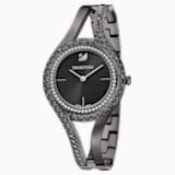 Eternal Watch, Metal bracelet, Black, Gun-metal PVD - Swarovski, 5376659