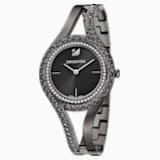 Zegarek Eternal, bransoleta z metalu, czarny, powłoka PVD w spiżowym odcieniu - Swarovski, 5376659