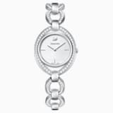 Stella Watch, Metal bracelet, White, Stainless steel - Swarovski, 5376815
