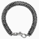 Skinny Single Bolster Bracelet, Palladium plated - Swarovski, 5377159
