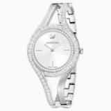 Ρολόι Eternal, μεταλλικό μπρασελέ, λευκό, ανοξείδωτο ατσάλι - Swarovski, 5377545