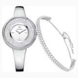 Crystalline Pure Set, Beyaz, Gümüş Rengi - Swarovski, 5380026