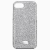 High Smartphone Case with Bumper, iPhone® 8, Gray - Swarovski, 5380309