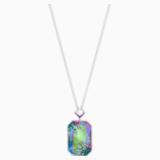 Gisele Necklace, Long, Multi-colored, Palladium plated - Swarovski, 5385900