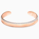 Brazalete Lakeside, blanco, Baño en tono Oro rosa - Swarovski, 5387569