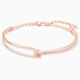 Lifelong Жёсткий браслет, Белый Кристалл, Покрытие оттенка розового золота - Swarovski, 5390818