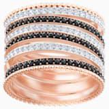 Anillo Lollypop, negro, Baño en tono Oro Rosa - Swarovski, 5390913