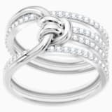 Lifelong Wide Ring, White, Rhodium plated - Swarovski, 5392183