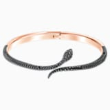 Leslie Bangle, Black, Rose-gold tone plated - Swarovski, 5399038