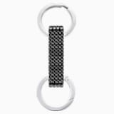 Alice Key Ring, Black, Stainless steel - Swarovski, 5400963