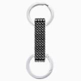 Porte-clés Alice, noir, acier inoxydable - Swarovski, 5400963