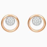 百搭新锐18K金玫瑰金钻石耳环 - Swarovski, 5401337