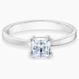 Zdobený prsten Attract, Bílý, Rhodiem pokovený - Swarovski, 5402435