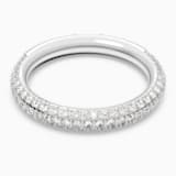 Stone gyűrű, fehér, ródium bevonattal - Swarovski, 5402437