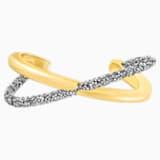 Crystaldust Cross Cuff, Grey, Gold-tone plated - Swarovski, 5402738