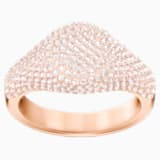 Stone Signet Ring, Pink, Rose-gold tone plated - Swarovski, 5406219