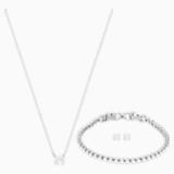 Parure Attract Emily, blanc, métal rhodié - Swarovski, 5408443