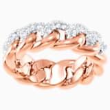 Anillo Lane, blanco, Baño en tono Oro Rosa - Swarovski, 5409185