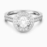 Attract Round 戒指, 白色, 鍍白金色 - Swarovski, 5409189