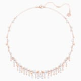 Mayfly Necklace, White, Rose-gold tone plated - Swarovski, 5409354