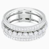 Further Кольцо, Белый Кристалл, Родиевое покрытие - Swarovski, 5409642