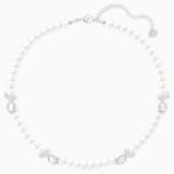 Leonore Necklace, White, Rhodium plated - Swarovski, 5409741
