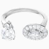 Attract Ring, White, Rhodium plated - Swarovski, 5410292