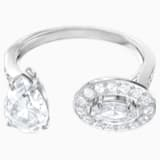Attract Ring, White, Rhodium plated - Swarovski, 5410292