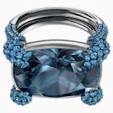 Make Cocktail Ring, Blue, Ruthenium plated - Swarovski, 5410664