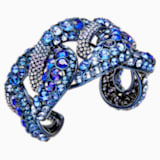 Tabloid Cuff, Multi-colored, Blue PVD Coating - Swarovski, 5410999