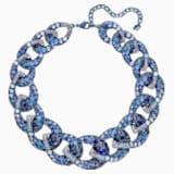 Tabloid Necklace, Multi-colored, Blue PVD Coating - Swarovski, 5411006