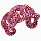 Tabloid Cuff, Multi-colored, Pink lacquer plating - Swarovski, 5411010