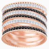Lollypop 戒指, 黑色, 鍍玫瑰金色調 - Swarovski, 5412045