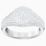 Stone Signet Ring, White, Rhodium plated - Swarovski, 5412051