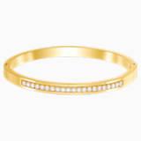 Further Thin Bangle, White, Gold-tone plated - Swarovski, 5412055
