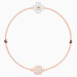 Swarovski Remix Collection Clover Strand, White, Rose-gold tone plated - Swarovski, 5412324